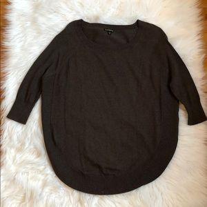 Brown circle hem sweater
